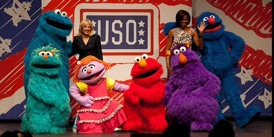 Michelle Obama Joins The Muppets For USO