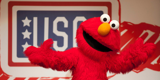 Elmo Joins The USO