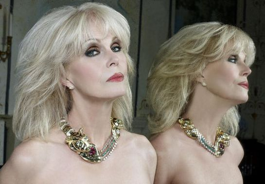 Joanna Lumley Models Born Free Necklace