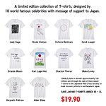 Celebrities Design T-Shirts To Save Japan!