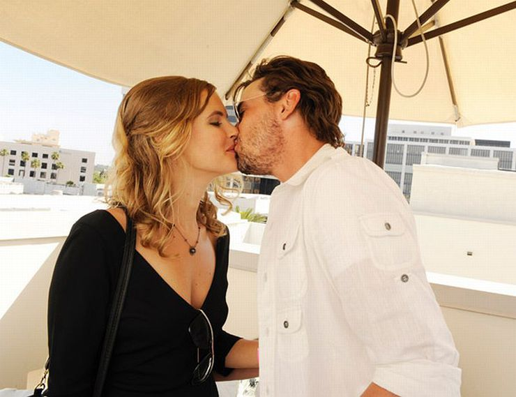 "Skeet Ulrich  and Amelia Jackson Gray celebrate their engagement at Melanie Segal's Red Cross ""Prepare LA"" Trend Lounge"