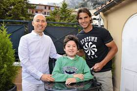 Rafael Nadal meets Paul, Luc Pettavino's son, a 15-year-old boy who is struggling against Duchenne muscular dystrophy