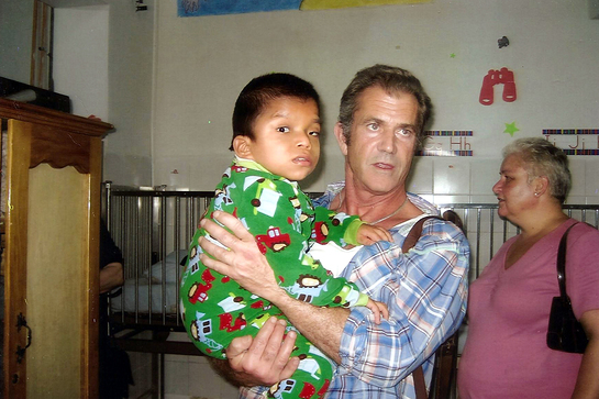 Mel Gibson in Guatemala With Mending Kids International