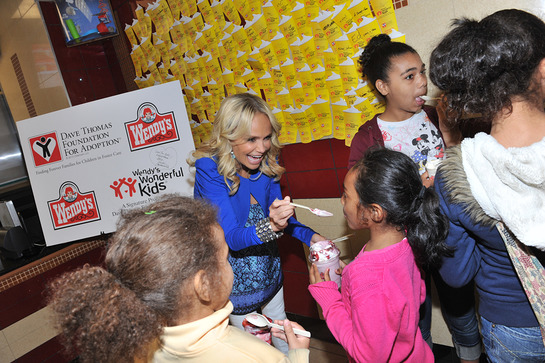 Kristin Chenoweth treats Wendy's customers to a Frosty as part of the kick-off to Wendy's fifth annual Father's Day Frosty Weekend (June 18-19) where 50 cents from every Frosty sold benefits the Dave Thomas Foundation for Adoption.