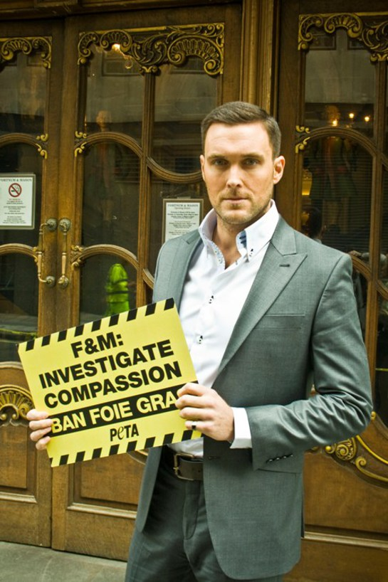 Owain Yeoman Outside Fortnum and Mason