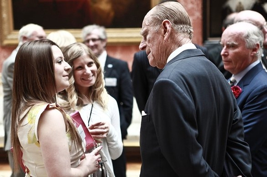 Hannah Holden From Worthing Talking To The Duke Of Edinburgh