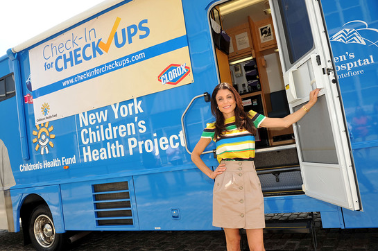 Photo: Bethenny Frankel checks-in at the Children's Health Fund (CHF) Mobile Medical Clinic to kick-off the Clorox and CHF Check in for Checkups program