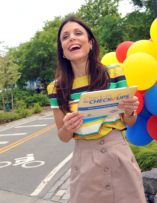Bethenny Frankel hits the streets of New York, Thursday, June 16, 2011, to kick-off the Clorox and the Children's Health Fund Check-in for Checkups program.