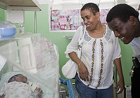 Samuel Dalembert witnesses the efforts being made to tackle malnutrition in Haiti.