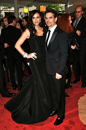 Jeff Gordon, Ingrid Vandebosch and the dress