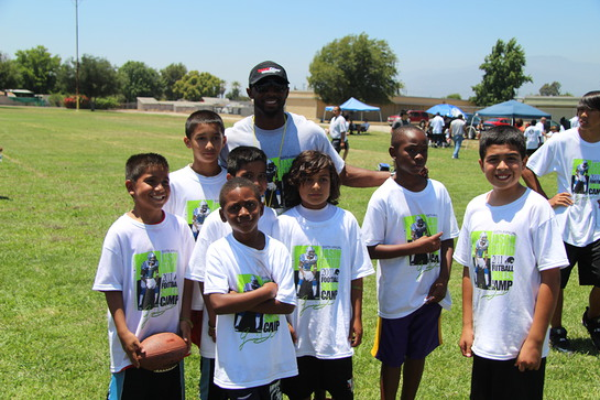 Photo: Jason David and kids from the camp