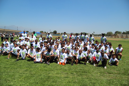 Photo: Jason David and camp participants