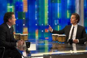 Photo: Matthew McConaughey Teaches Piers Morgan the Bongos