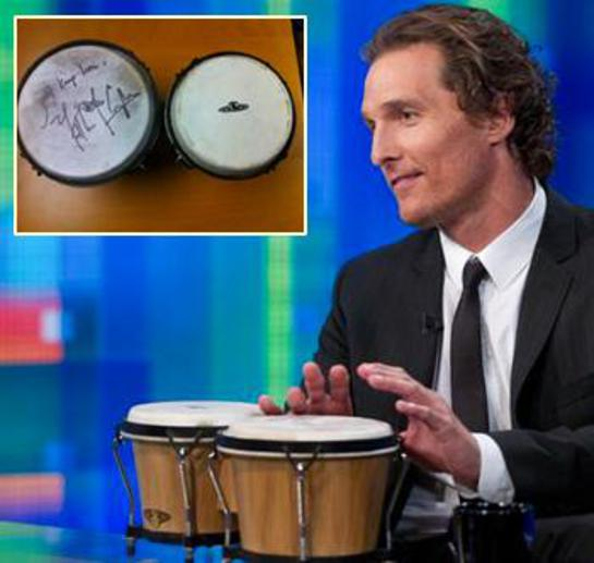 Photo: Matthew McConaughey's Bongos