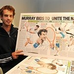 Andy Murray Signs Art For Troops