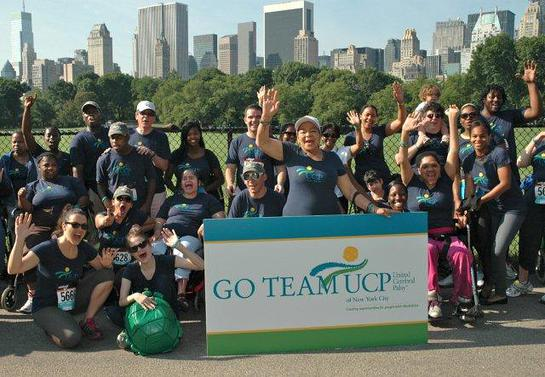 Team UCP at the 2011 Achilles Hope & Possibility Race in Central Park.