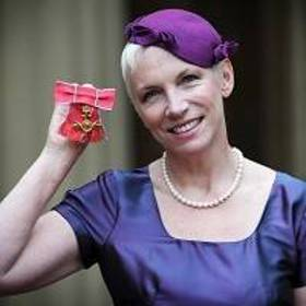Annie Lennox with her OBE