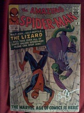 Signed Spider-Man comic