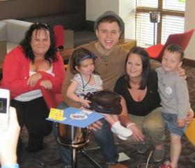 Olly Murs with Mia-Jade and family
