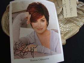 Sharon Osbourne Signed Photo