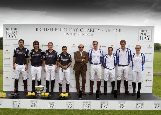 Prince Harry and his team at the British Polo Day