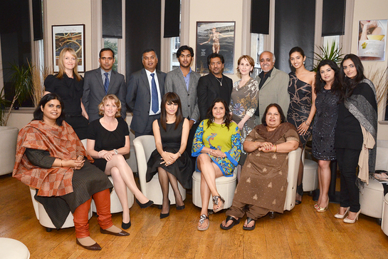 Guests at a special 'Dinner in the Dark' for Sightsavers