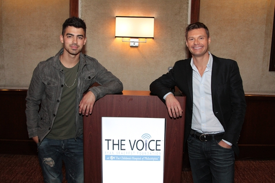 Joe Jonas and Ryan Seacrest