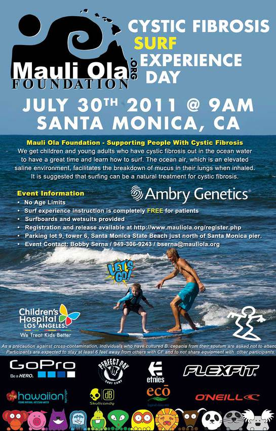 Photo: Cystic Fibrosis Surf Event