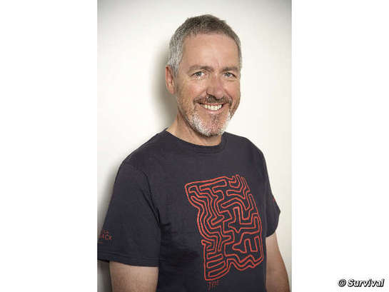 Griff Rhys Jones Models Survival International Shirt