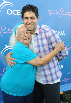 Adrian Grenier and his grandmother