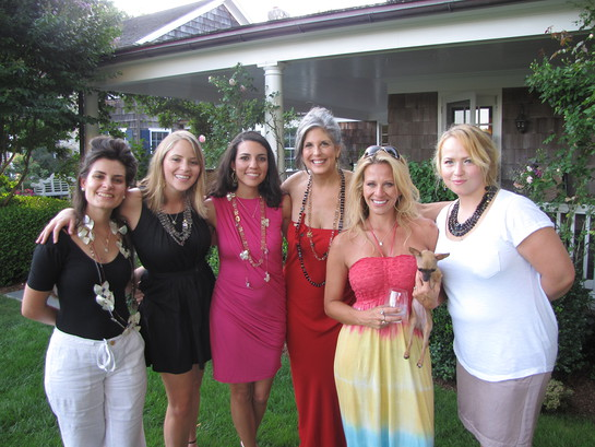 Photo: Dina Manzo and Joan Hornig and friends