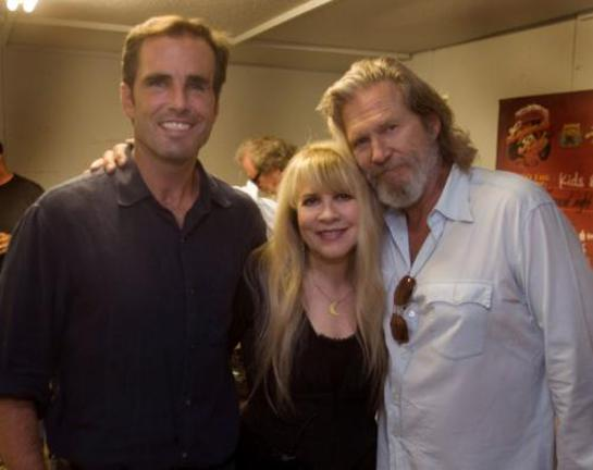 Bob Woodruff, Stevie Nicks, and Jeff Bridges backstage at American Thunder Benefit for Bob Woodruff Foundation in Sturgis, South Dakota August 11th