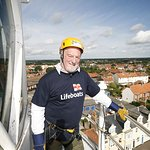 Bernard Hill Abseils For Charity Again