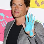 Rob Lowe Unveils Celebrity Charity Handprint Auction