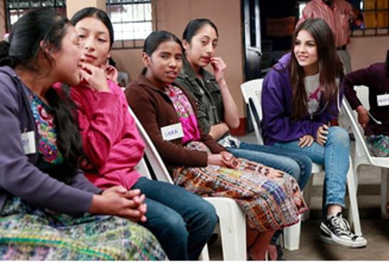 Victoria Justice in Guatemala