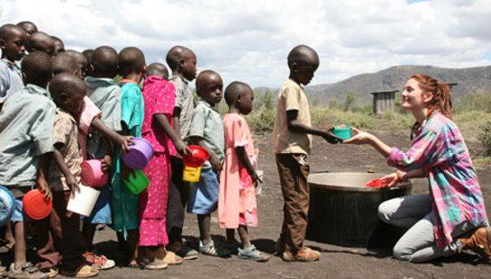 Drew Barrymore in Kenya