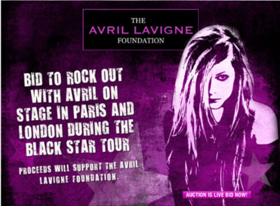 Avril Lavigne Auction