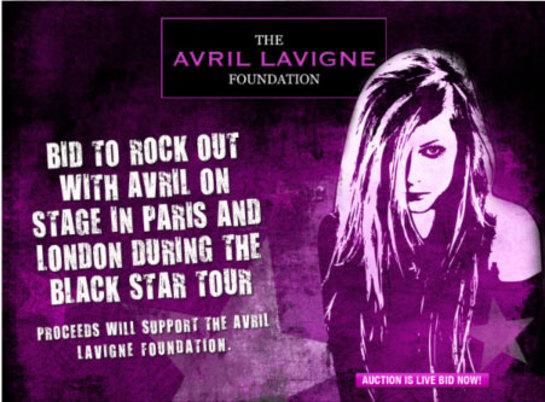 Avril Lavigne Auction
