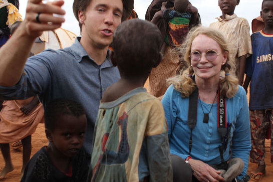 Mia Farrow at Dadaab Refugee Camp in Kenya