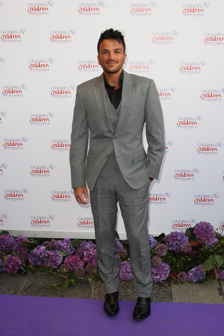 Peter Andre Purple Carpet