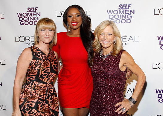 SELF Publisher, Laura McEwen, Jennifer Hudson, SELF EditorinChief Lucy Danziger