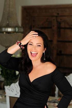 Cancer Schmancer's Fran Drescher models the Nialaya bracelet set to be sold on JPSelects.com to raise money for cancer awareness.