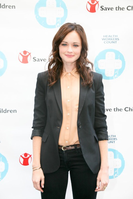 Alexis Bledel in Times Square