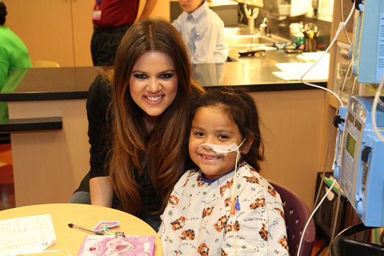 Khloe Kardashian at Children's Hospital LA