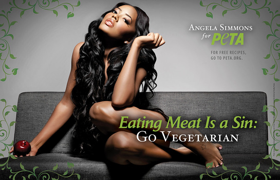 Angela Simmons Go Vegetarian