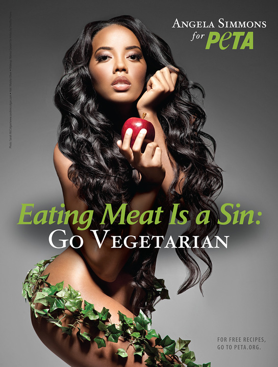 Angela Simmons Eating Meat Is A Sin