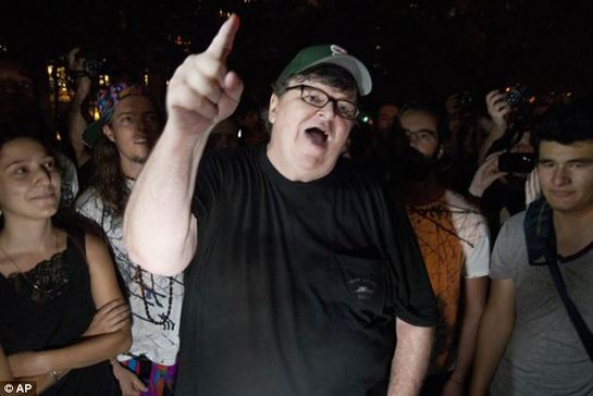 Michael Moore addresses Occupy Wall Street protestors