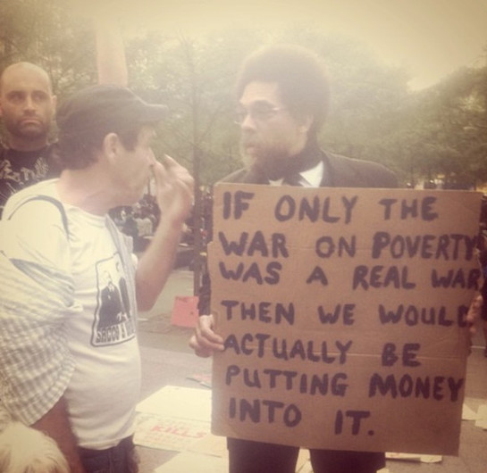 Prof. Cornel West at the Occupy Wall St protests