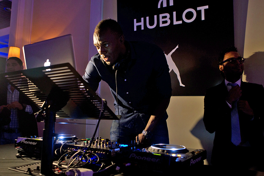 Usain Bolt at Hublot Charity Event