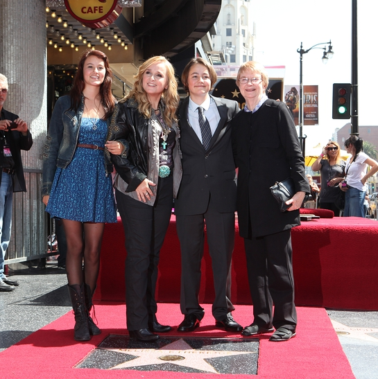 Melissa Etheridge with daughter Bailey Cypheridge, far left; son Beckett Cypheridge, second from right; and mother Elizabeth Etheridge